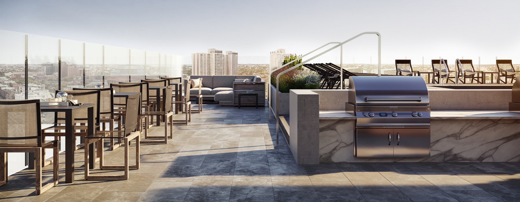 rendering of rooftop grill area